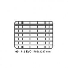 UPRACKS roofrack - dakrek 179 X 129 cm. zwart aluminium, voorzien van T-gleuven.