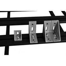 UPRACKS 63-A04387 Aluminium hoeksteun 87x43x43 mm.